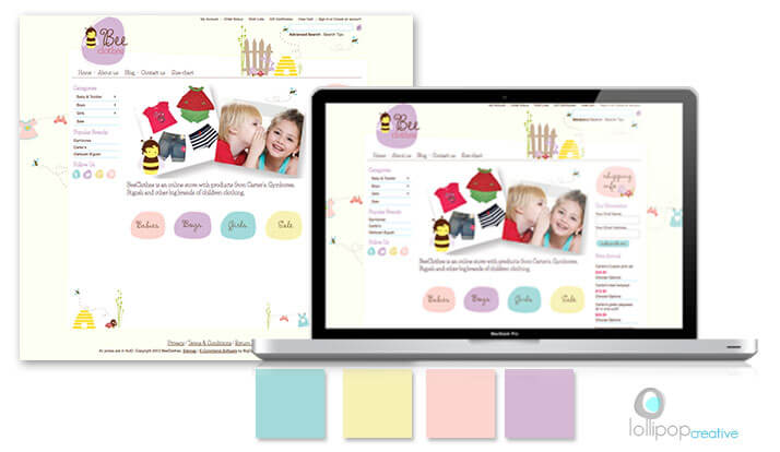 [Design Portfolio] Bee Clothes Logo & Website