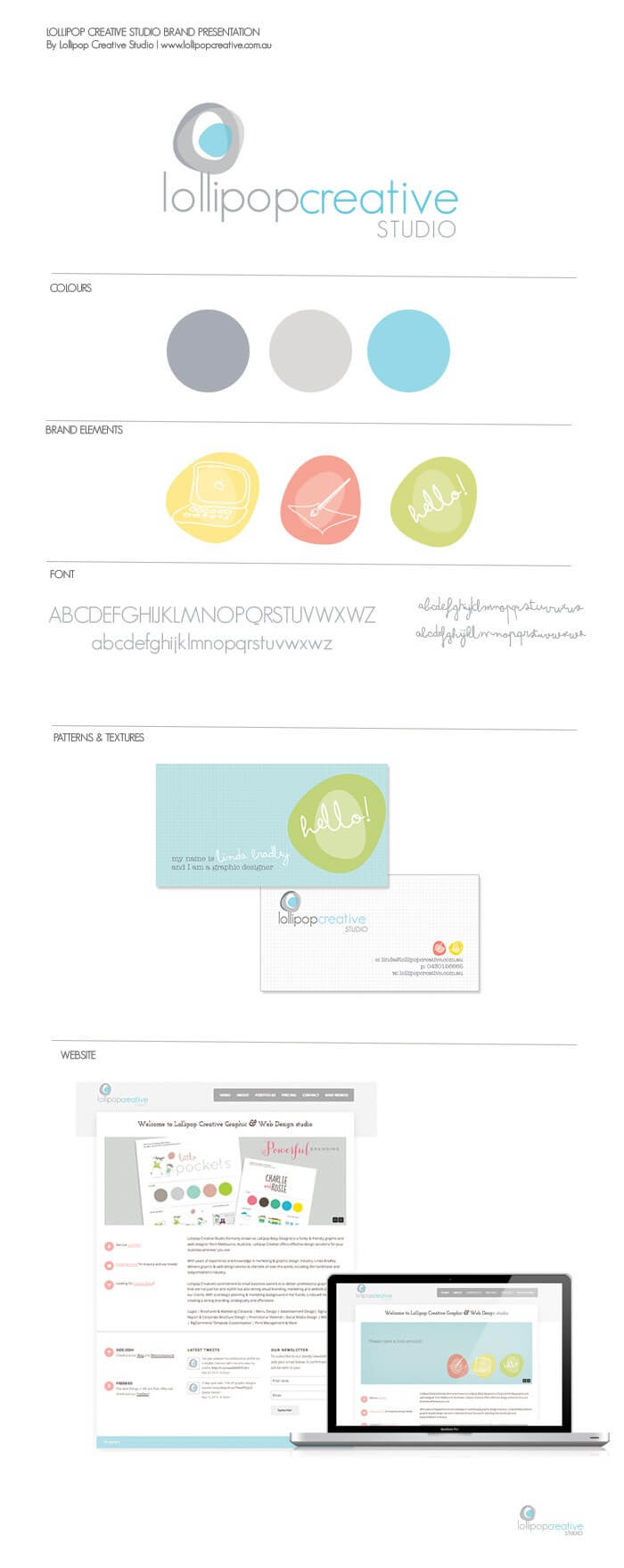 Lollipop Creative Logo design & Brand board