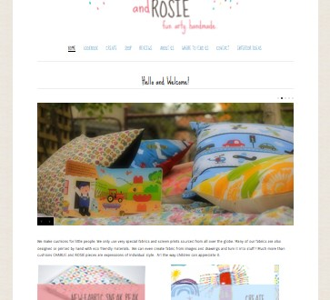 Charlie and Rosie Handmade Website Design