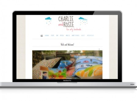Charlie & Rosie Handmade Wordpress Web design