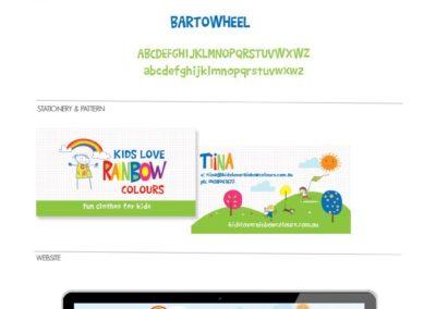 Kids Love Rainbow Colours Brandboard