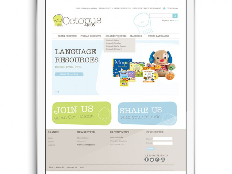 Octopus Kids BigCommerce Design