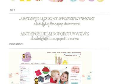 Bee Clothes Brand BoIntelligent Mind logo design, web design, stationeryard