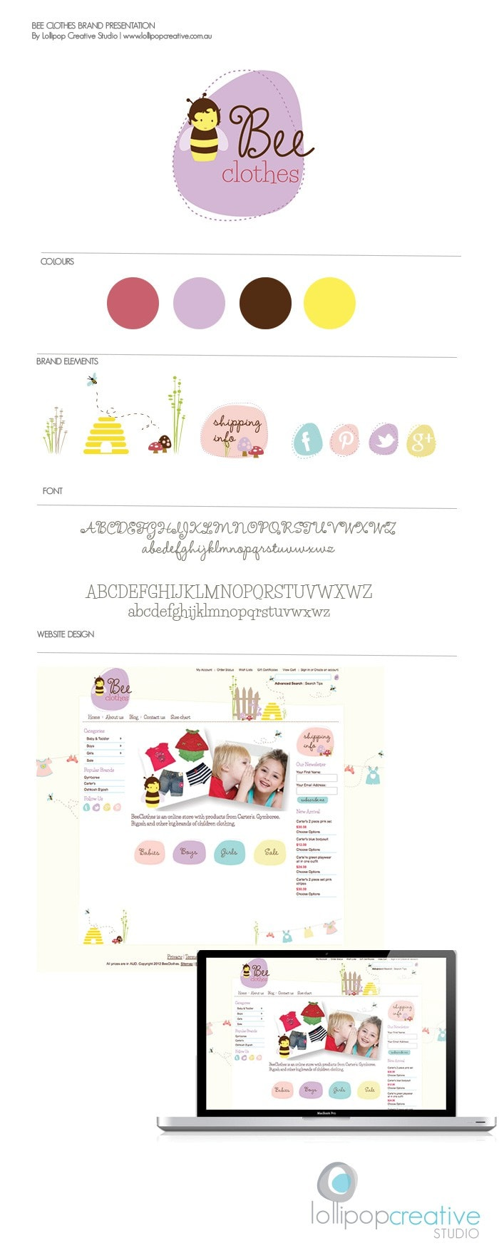 Bee Clothes - Children's Brand Board