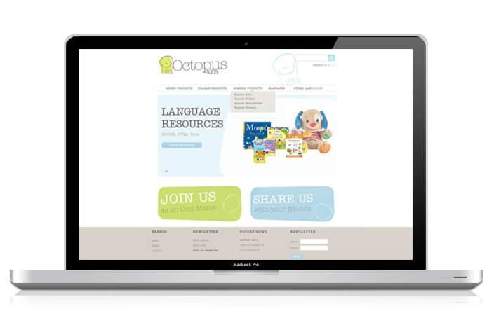 Octopus Kids Children Website BigCommerce Design
