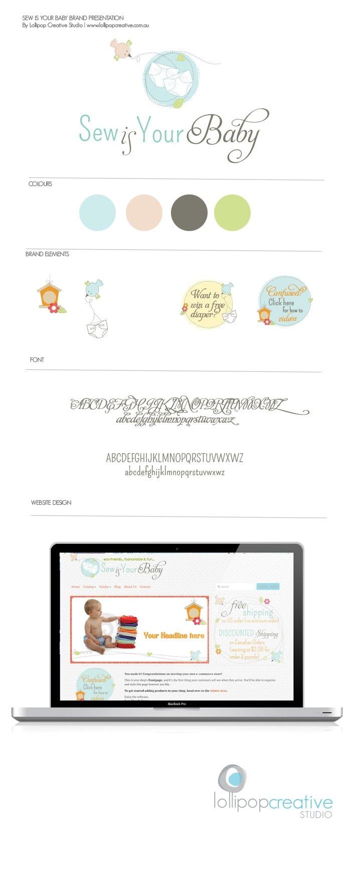 Sew is Your Baby Logo Design & Web design