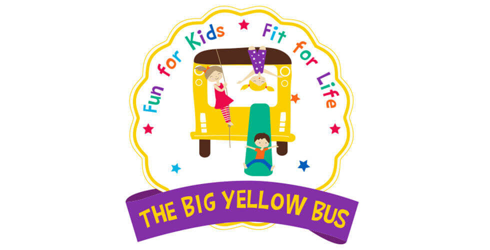 The Big Yellow Bus Children's Fitness Logo Design