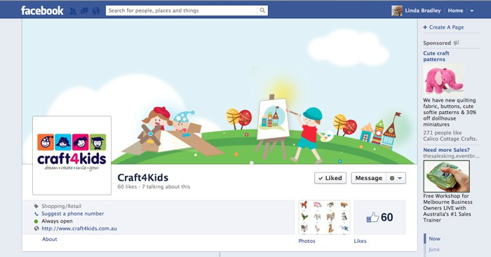Craft4Kids Facebook & Profile Image