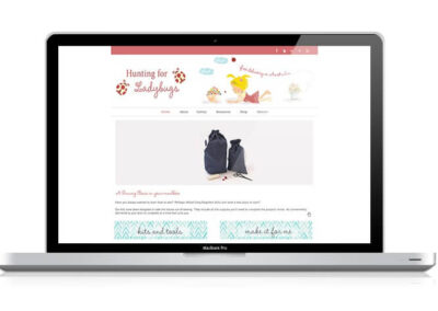 Hunting For LadyBugs WordPress Design