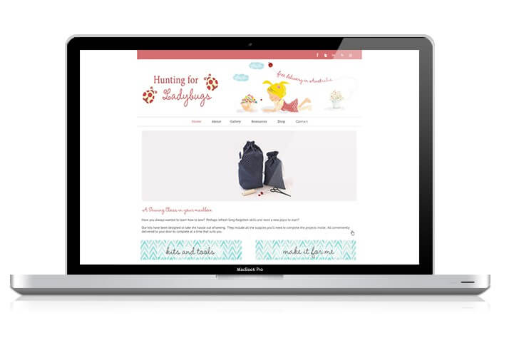 Hunting For LadyBugs WordPress Design