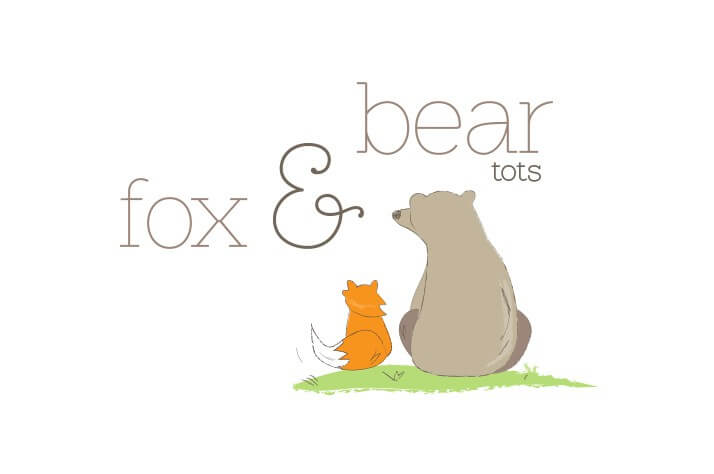 Fox & Bear Tots Logo Design