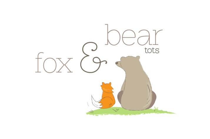 Fox & Bear Tots Logo Design