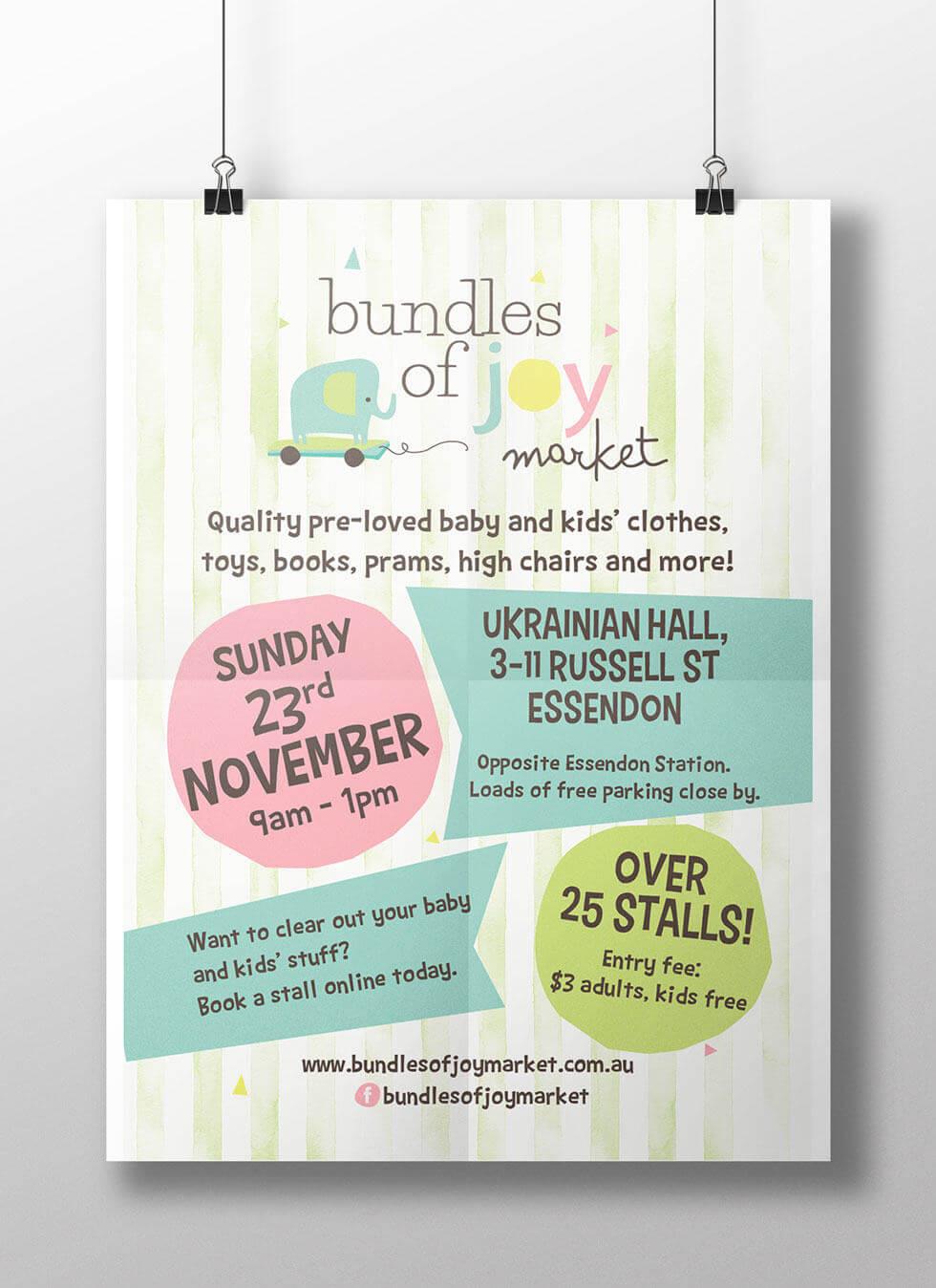 Poster Design – Bundles of Joy Baby Market