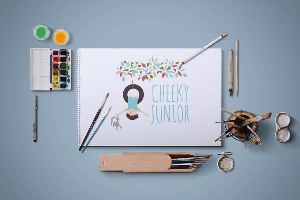 CHEEKY JUNIOR BABY LOGO DESIGN