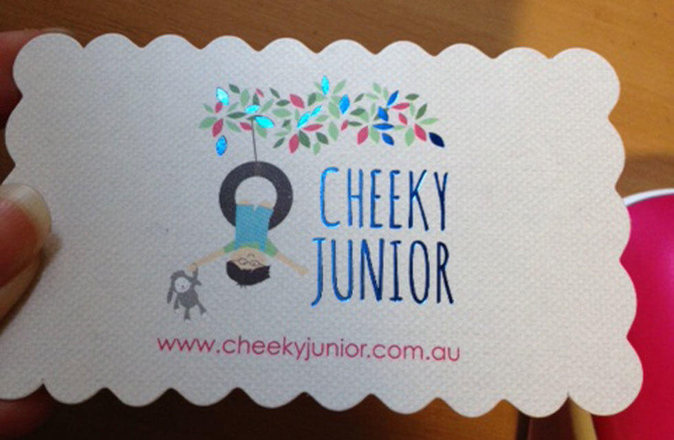 CHEEKY JUNIOR BABY BUSINESS CARD DESIGN