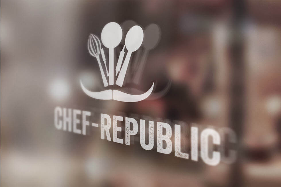 CHEF-REPUBLIC-LOGO-DESIGN-ON-WINDOW