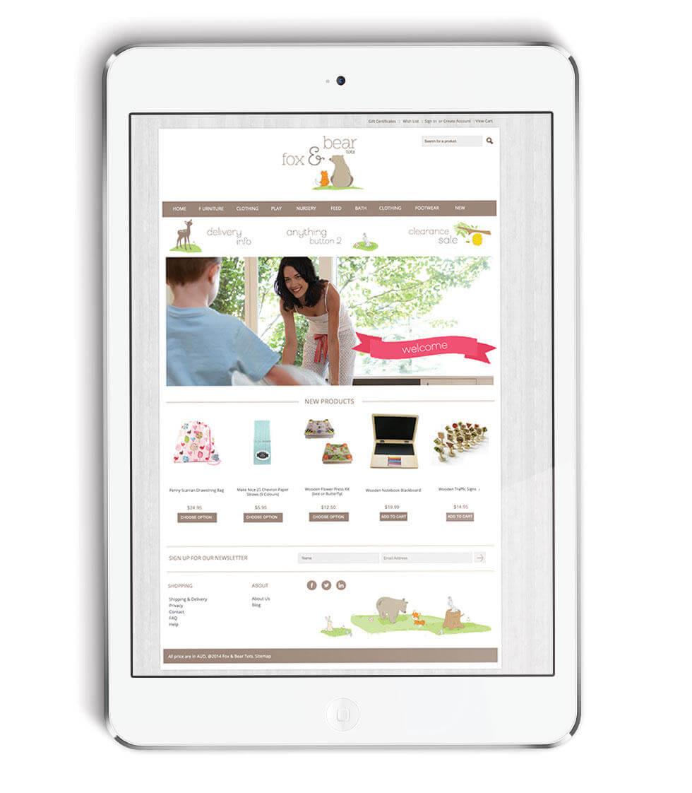 Fox & Bear Children's Website