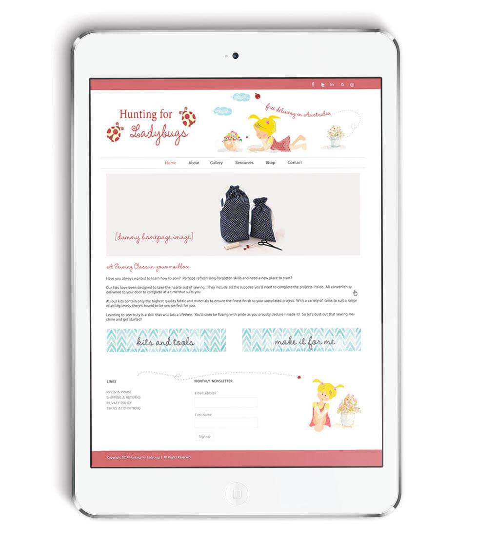 Hunting for LadyBugs Wordpress Web Design