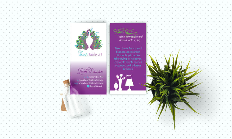I heart Table Art Party Planner Business Card