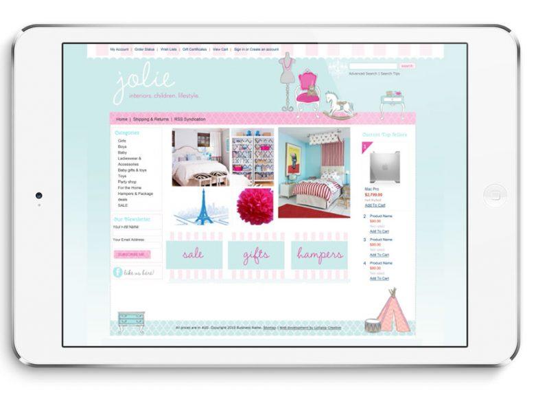 Jolie Website Design