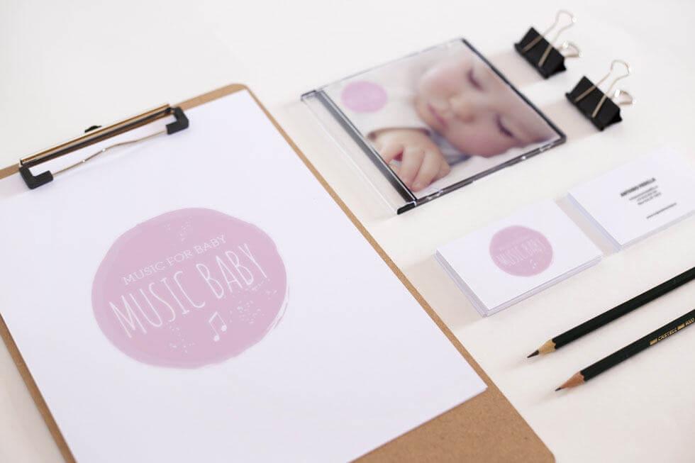 Music For Baby Logo Design
