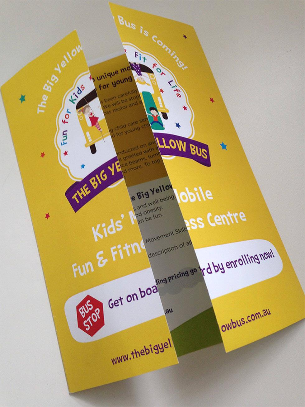 TBYB_IPADThe Big Yellow Bus Toddler & Preschool Gatefold Brochure Design