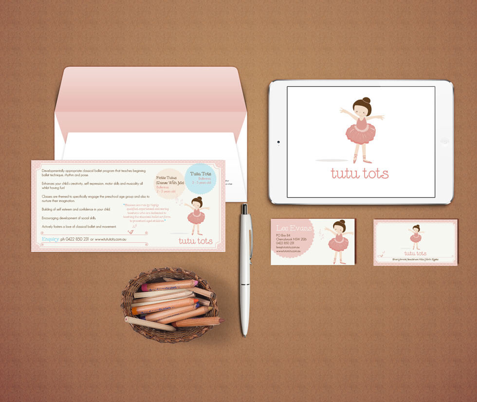 Tutu Tots Preschool Ballet Logo Design & Branding