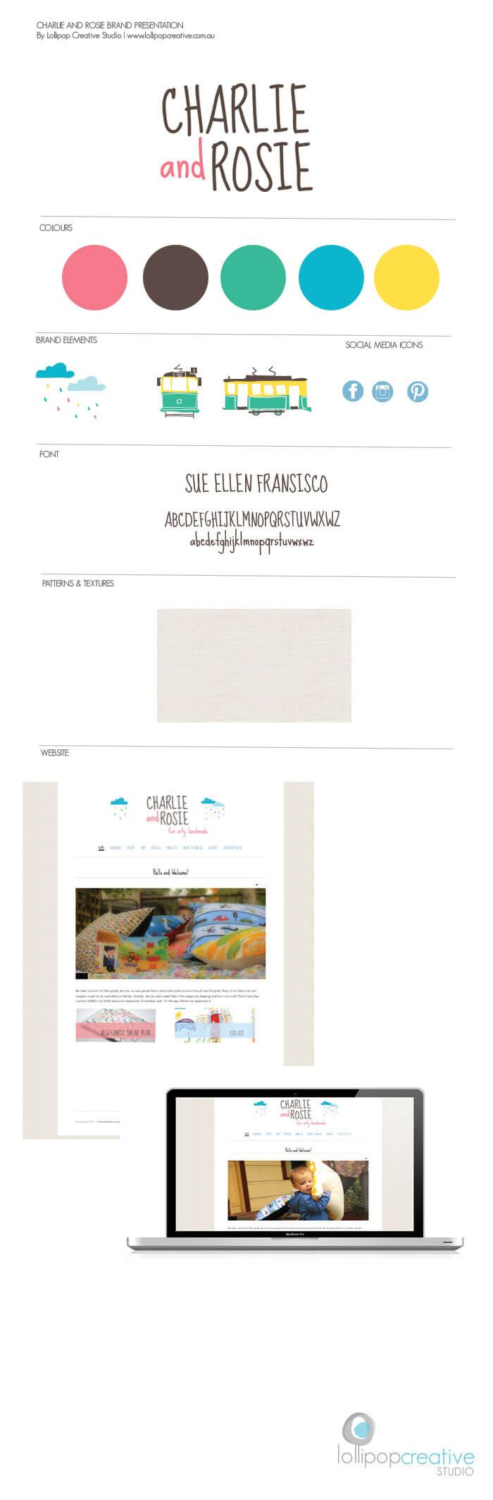 Charlie&Rosie Logo and Branding by Lollipop Creative Studio
