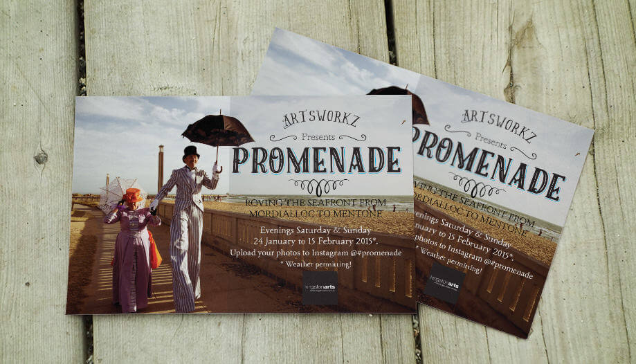 Postcard design: PROMENADE Street Performance