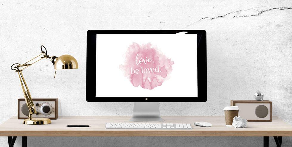Free February Desktop Wallpaper for Valentine's Day