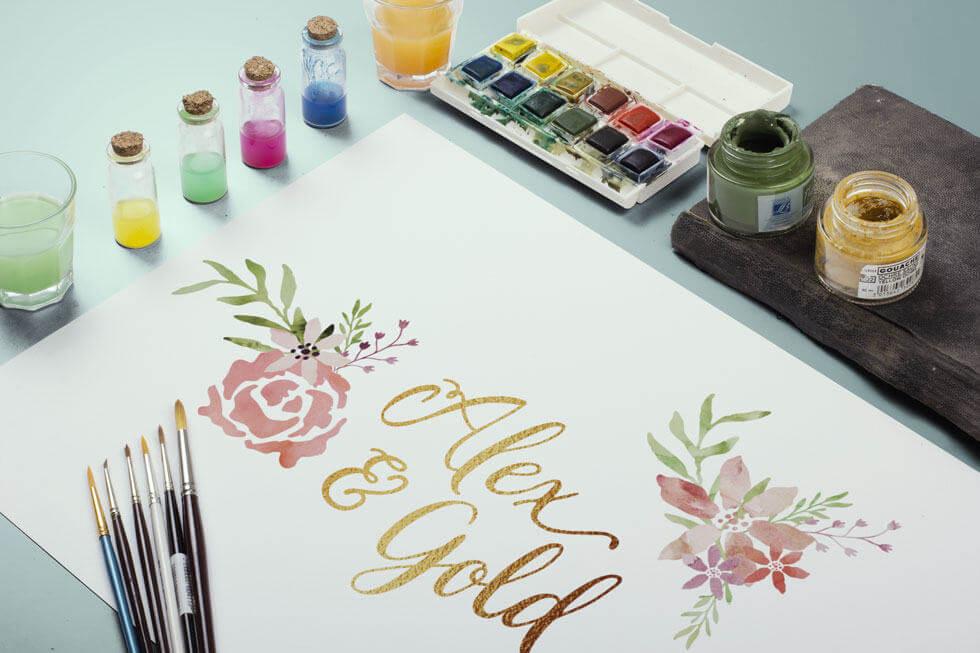 Alex & Gold Logo & Business Card Design