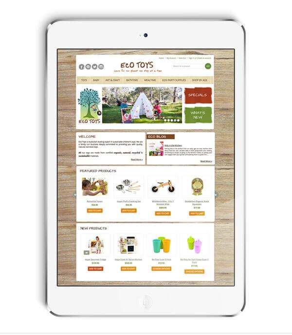 Ecotoys BigCommerce Website Design