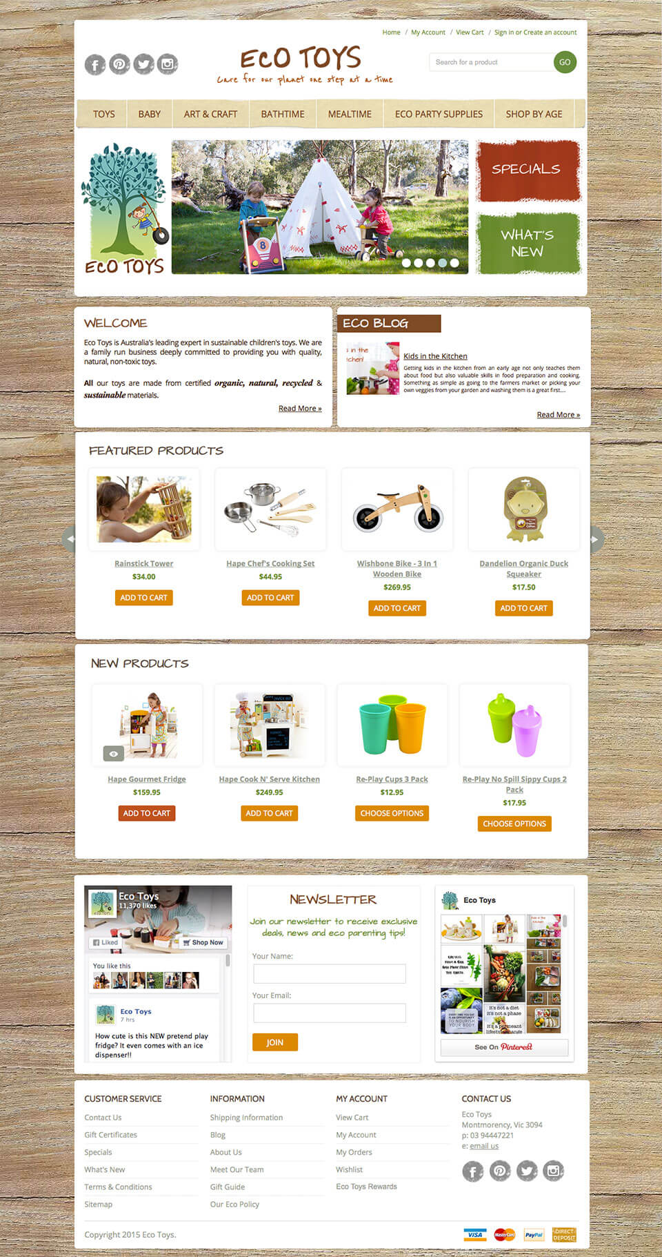 Ecotoys Children's BigCommerce Template design & development