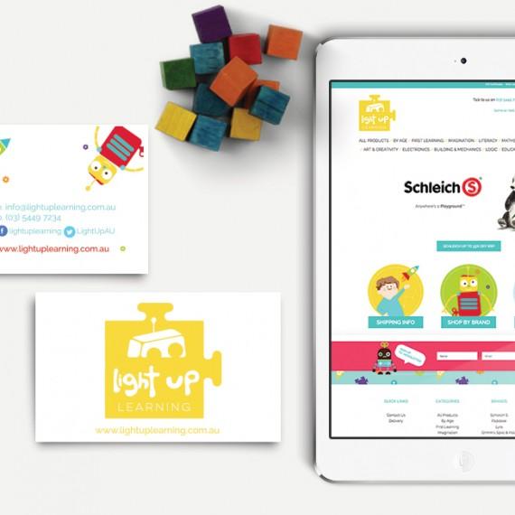 Light Up Learning Branding & Web Design (BigCommerce)