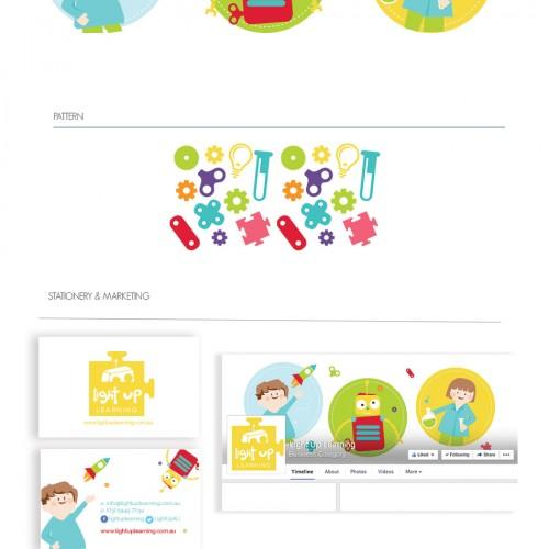 Light Up Learning Branding Portfolio