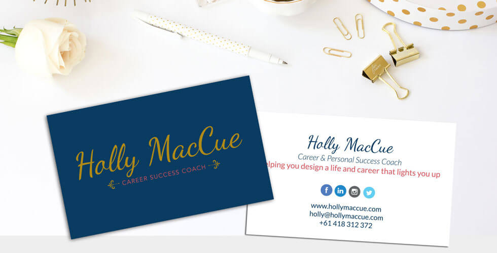 Holly Mac Cue Logo, Branding & WordPress Site