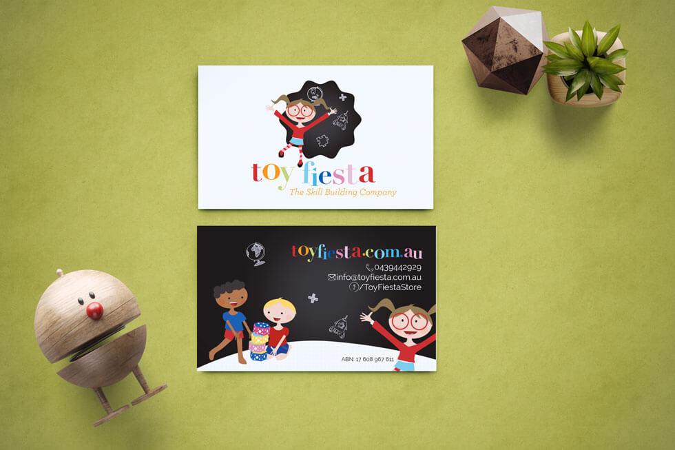 Toy Fiesta Childrens Logo Design Branding Website Design
