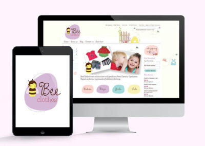 Bee Clothes Logo & Website