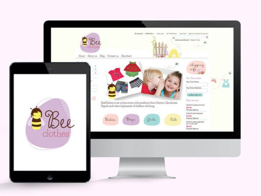 Bee Clothes Logo & Website