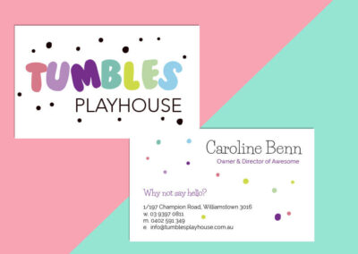 Tumble Playhouse Branding Package