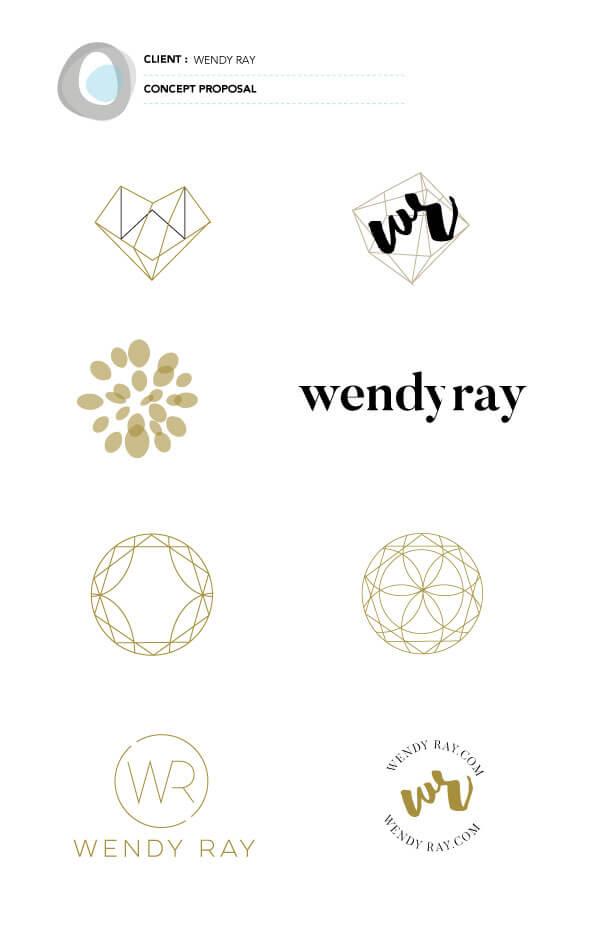 wendy ray digital marketer logo design concepts