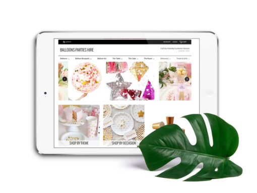Balloons Parties Hire Online Shop Design