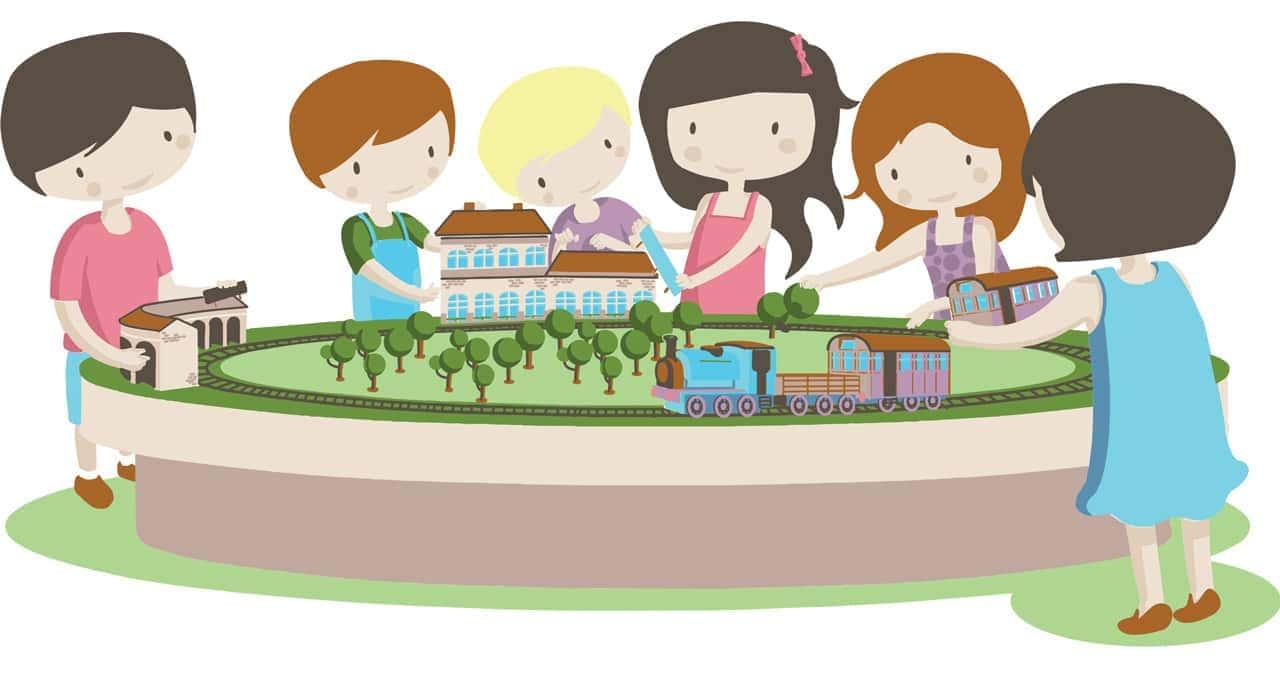 children working together illustration for kids psychologist