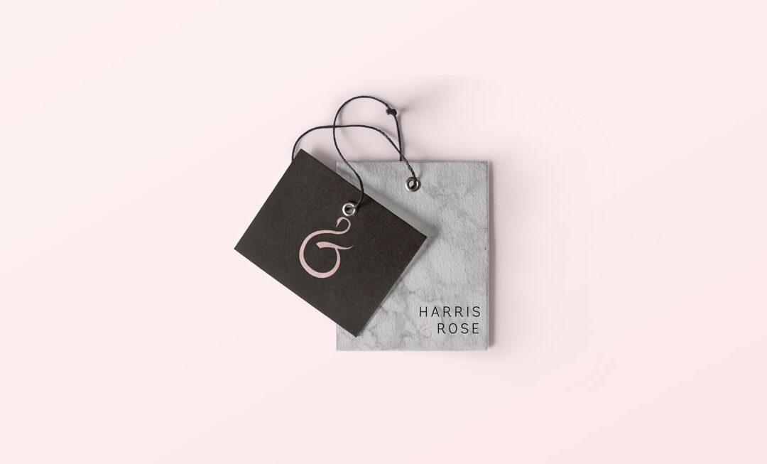 Harris & Rose Baby Bib Logo Design