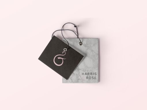 Harris & Rose Baby Bib Logo Design