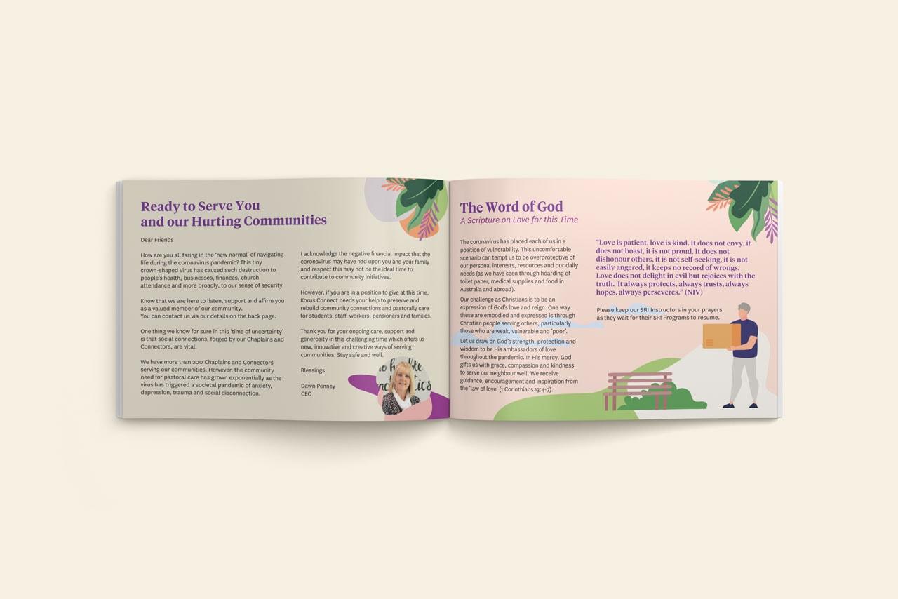 Not for Profit Brochure Design for Korus Konnect