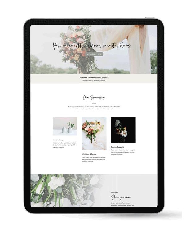 Bloom - Florist & Hamper Business Website Design