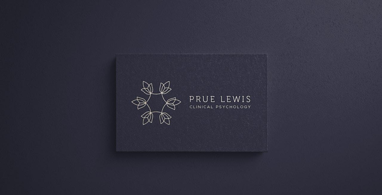 Prue Lewis Clinical Pscyhology Navy Logo Design