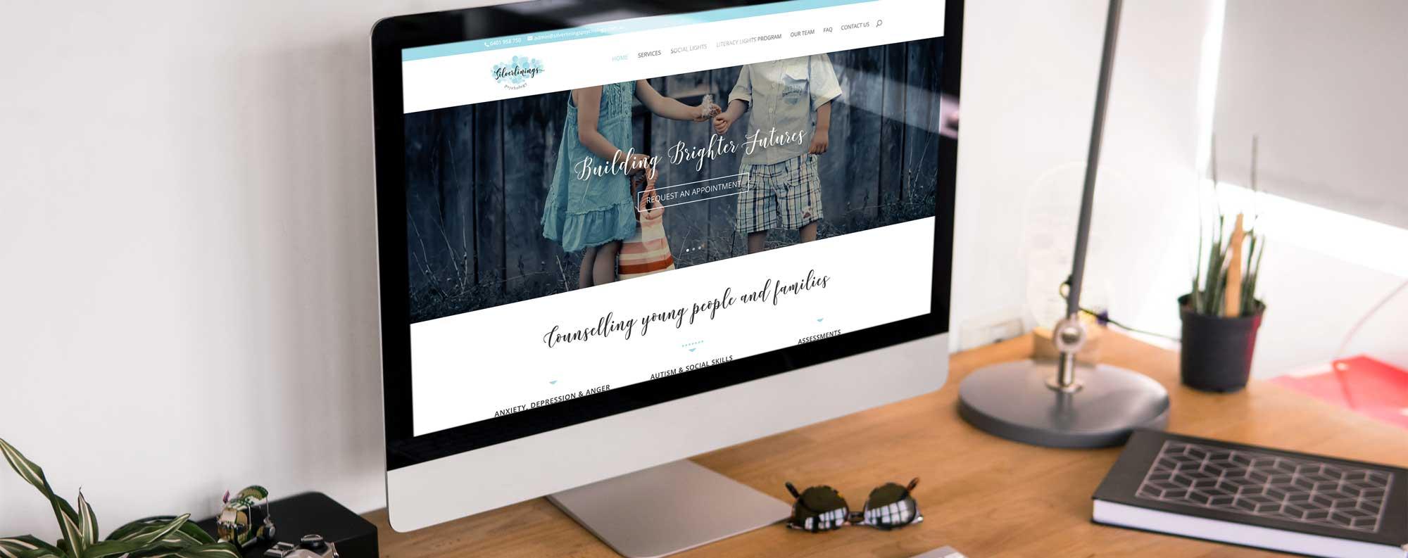 silverlining pscyhologist website design