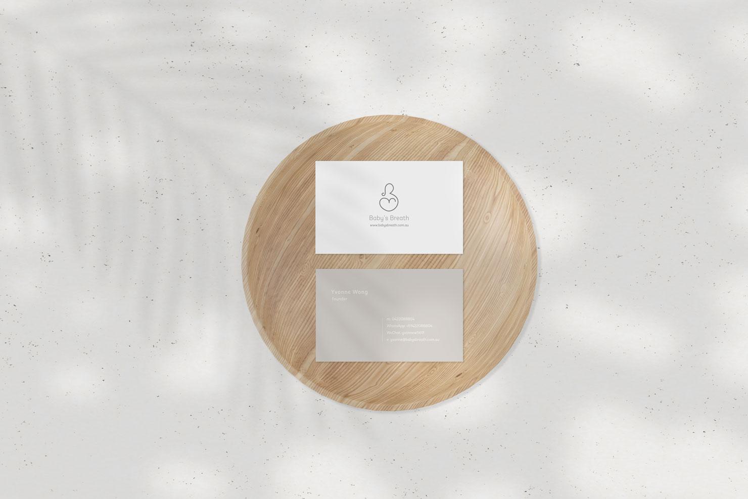 babys breath business card design